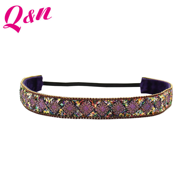 Hot selling custom colorful rhinestone headband with stone