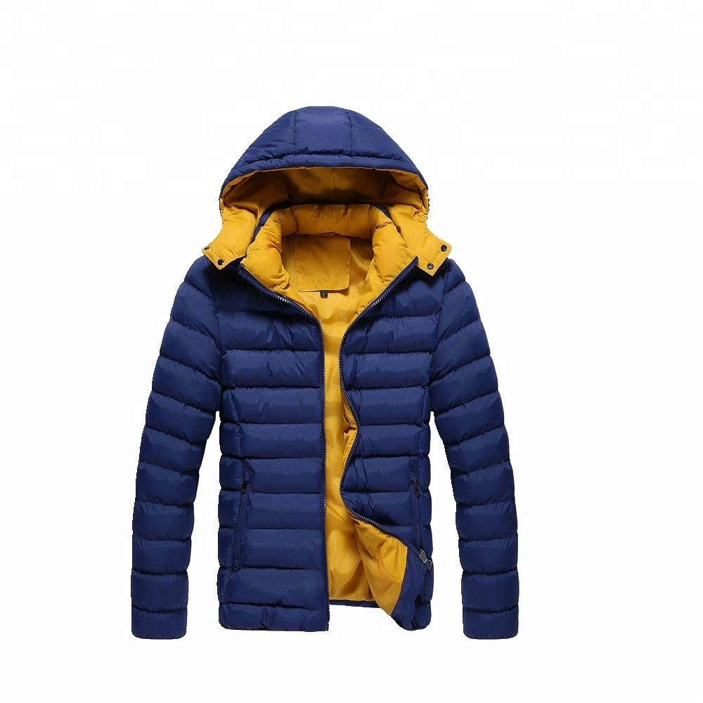 Men fashion warm Light soft Nylon windproof hoody puffa padding jacket stock