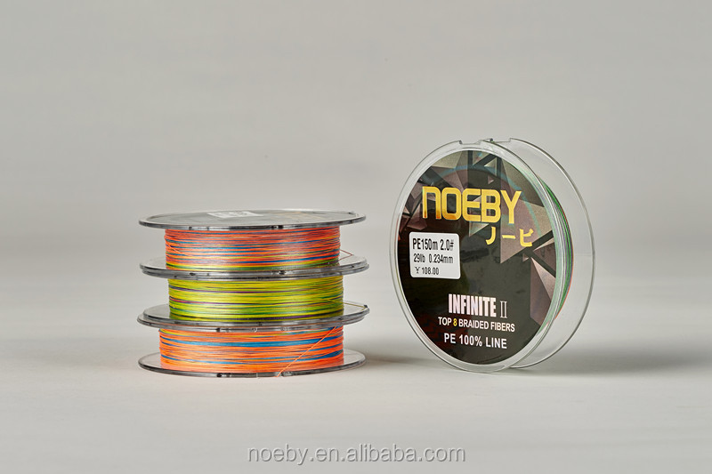 NOEBY high-power 150m custom 8 strand PE fishing braided line