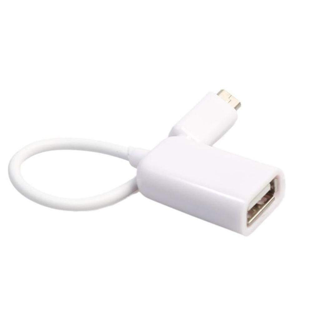 Mchoice USB 2.0 A Female to Micro B Male Adapter Cable Micro USB Host Mode OTG Cable