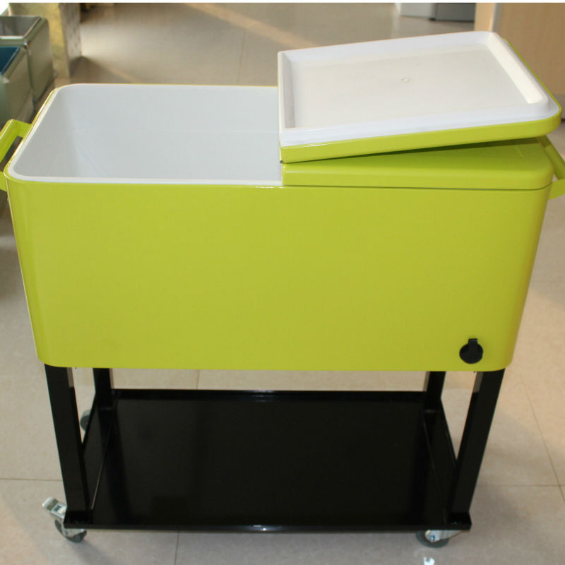 Patio Outdoor Ice Cool Cart Metal Rolling Cooler Feed Cooler   Buy Feed  Cooler,Insulated Metal Cooler,Retro Metal Ice Cooler Product On Alibaba.com