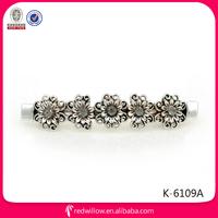 Manufacture wholesale diamante metal hair stick clips for long hair