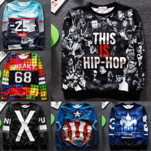 New 2015 men/women hoodies 3d eminem/just do it/pigalle print sweatshirt hip hop tracksuit sport suit harajuku hoodie sudaderas