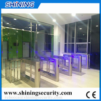 Access control system waist height security swing arm turnstile for crowd control