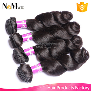 Indian Virgin Hair Loose Wave 4pcs Lot 12-30 Super Indian Wavy Hair Remy Human Hair Weave Can Be Dyed and Bleached