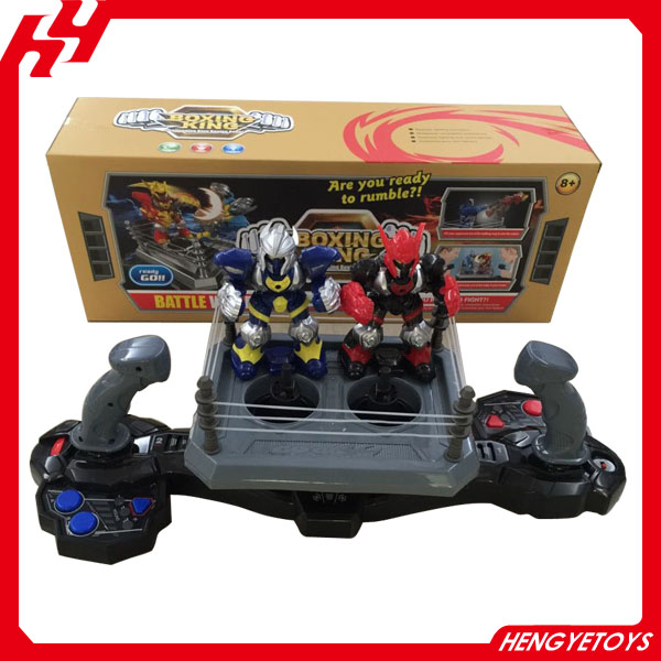 High quality plastic king boxing fighting robot toy