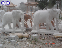 small carved white marble stone elephant sculpture for sale