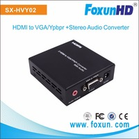 2 HDMI in to VGA + Audio out converter, support YPbPr, Full HD 1080P