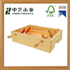 customized size natural DIY wood toys for children from zhongyi