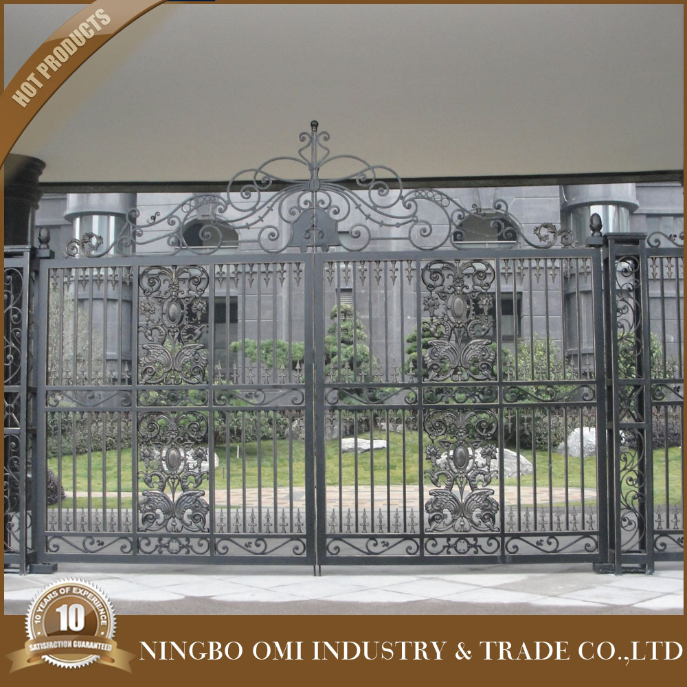 Cast aluminum gate design sliding metal gatessteel construction building material iron house main