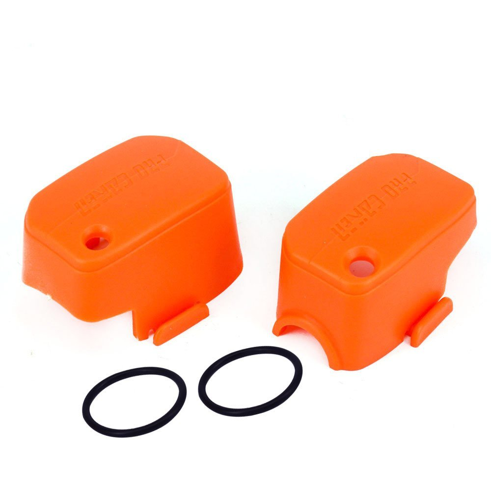 JFG RACING Orange Front Brake Clutch Fluid Reservoir Covers Guards Protector For KTM EXC SX MX SXS XCW SXF Dirt Pit Bike Motorcycle