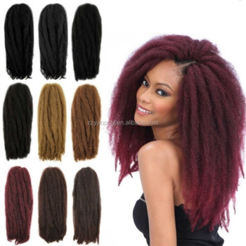 20inch Burgundy Toyokalon Synthetic Marley Braid Afro Curl Hair Twist