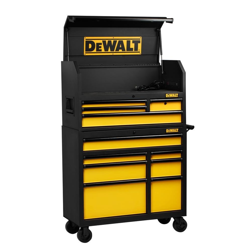 ad96e703af4 DEWALT 40 in. 11-Drawer Tool Chest and Rolling Tool Cabinet Set