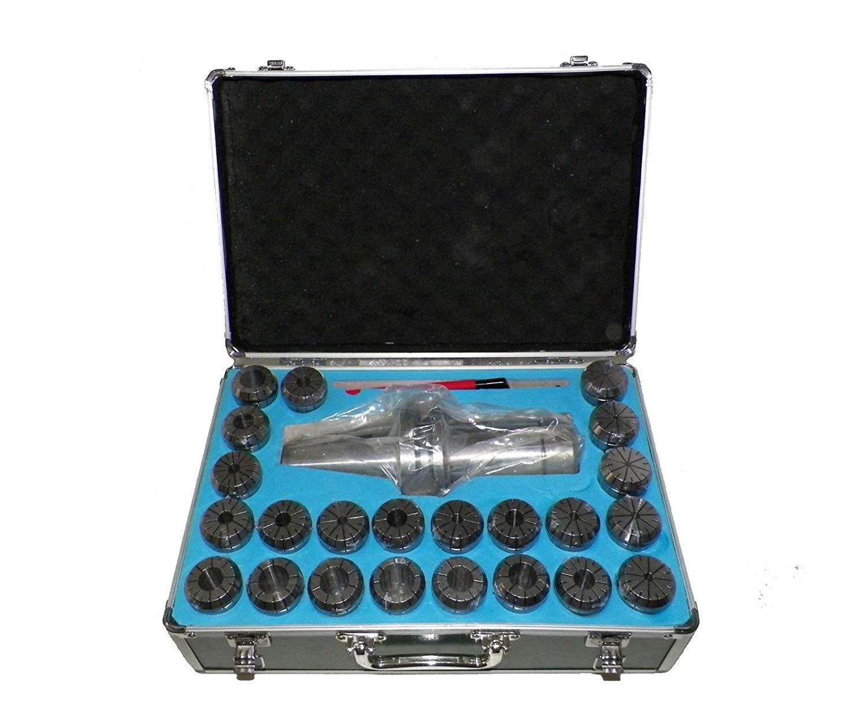 """BT50 ER40 Milling Collet Chuck Set 23Pcs 1/8"""" - 1"""" Proj. 5.91"""" Bal.25,000rpm"""