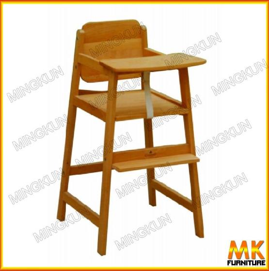 Muebles de madera de haya de alimentaci n del beb silla for Silla de bebe de madera