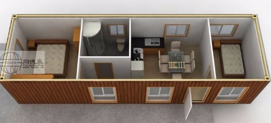 Renovated Container House Iso Modified 40ft Shipping Homes