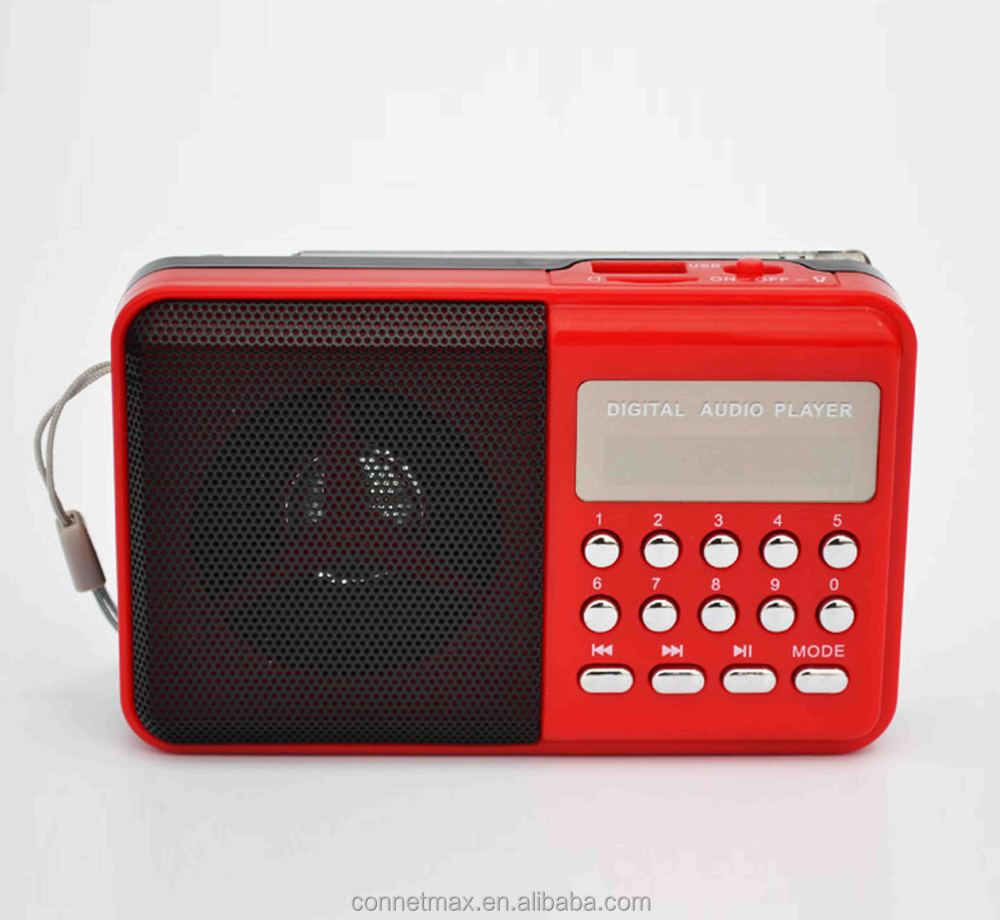 Fm Radio/audio Player With Digital Led Display,For Old People ...