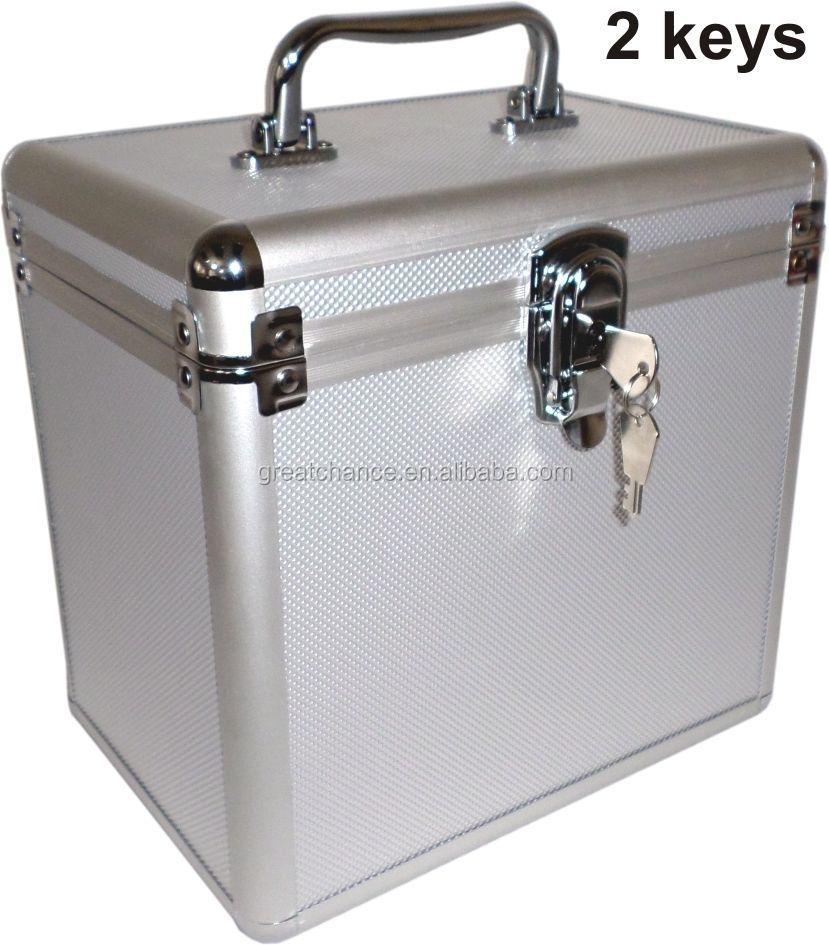 aluminum carry storage case dj equipment cd dvd photogrophy camera music box