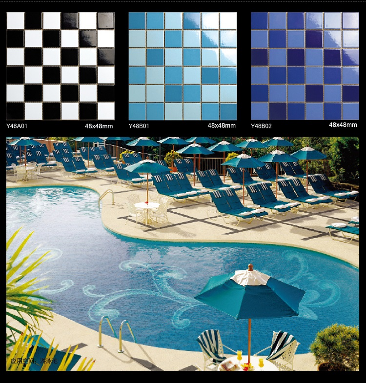 Featured design ceramic tile swimming pool mosaics