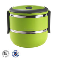 Metal Stainless steel food warmer container with handle