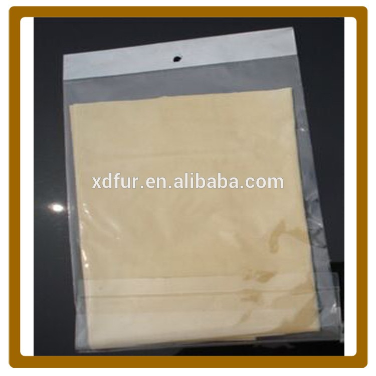 china suppliers irregular sheepskin chamois leather