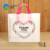 32 x 25 x 6 cm LDPE Plastic Handle pants sweaters shirt Store Heart-shaped printed bag