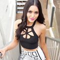 Crop Top 2015 Summer Fashion Brand Sexy Cut Out Bustier Cropped Tops Tanks Black Camis Strape