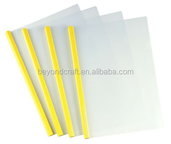 A4 Pp Clear Plastic Report File Cover Sliding Bar Files