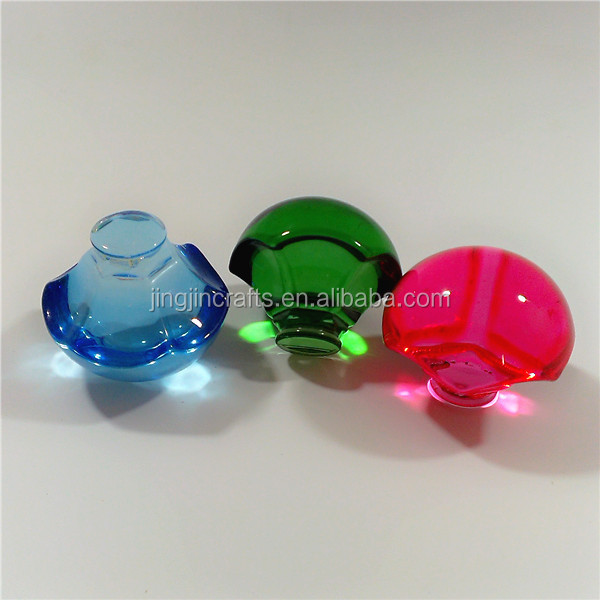 Spray colored glass lid for wine glass, sandblasting glass cap
