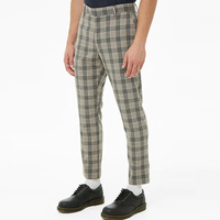 men pants clothing manufacturers zip fly front slanted pockets all over plaid pants