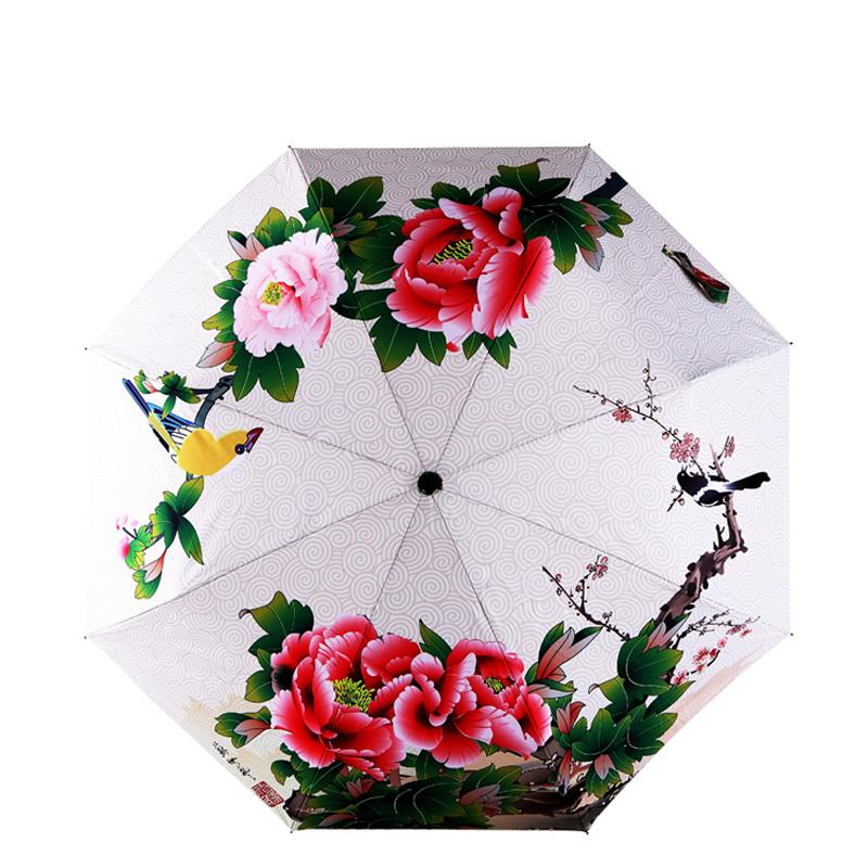 Китайский Цветок Parapluie Зонтик Декоративные Женская Личная Терраса для Зонтик Дождь Бесплатная Доставка