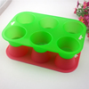 FDA non stick silicone cupcake 6 round holes shape soap mold silicone muffin cake pan for baking