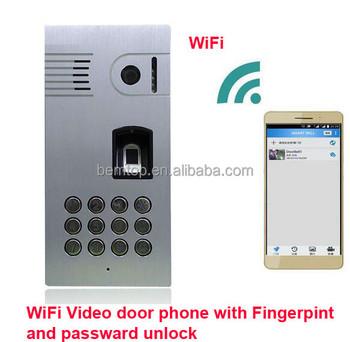 720p Hd Live Streaming Fingerprint & Code Access Smart Ip Wifi Video Door  Phone With Ir Night Vision And Motion Detection Alarm - Buy Wifi Video Door
