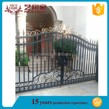 Yishujia Factory Vintage High Quality Wrought Iron Gate Beautiful Gates Models For Homes Interior