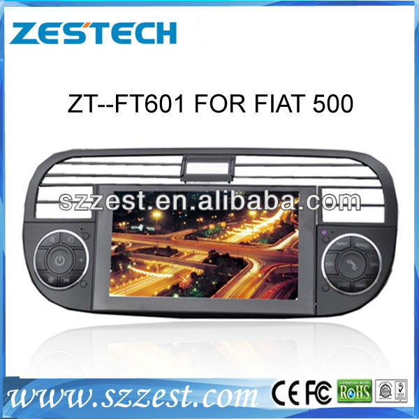 ZESTECH central multimedia for Fiat 500 car radio gps