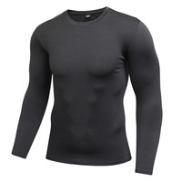 Hot Selling Dry Fit Workout Sports T Shirts for Men Long Sleeve Tops Casual Fitness T Shirts Undershirts