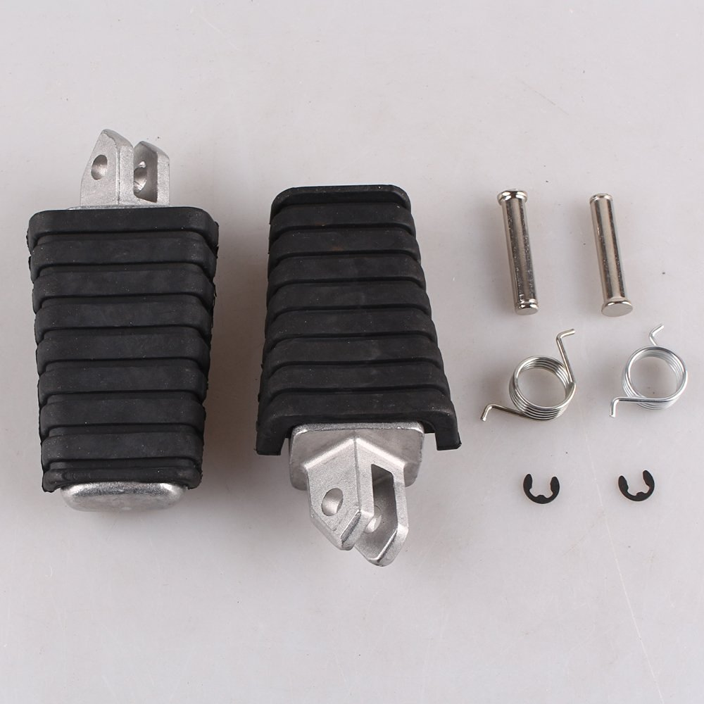 GZYF Front Footrests Foot pegs for Yamaha V-STAR XVS650 XVS400 XV400 All Years