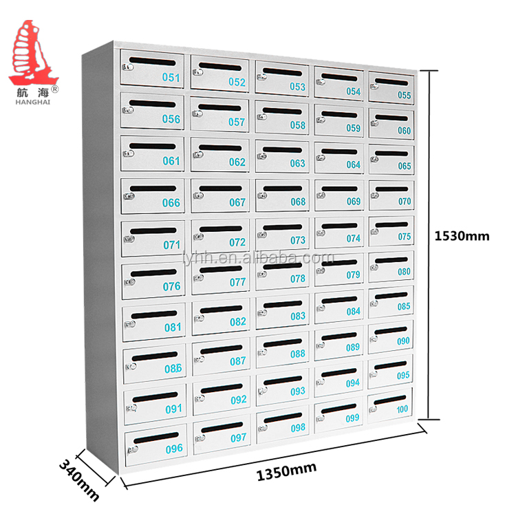 50 Door Multiple Post Boxes 5 Column Apartment Stainless Steel Letter Box  Commercial Mailboxes For Sale - Buy Commercial Mailboxes For Sale,Multiple