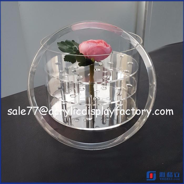 Acrylic Flower Box,Clear Flower Vase Display Case,Acrylic Box ...