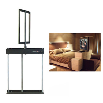 Gemotoriseerde tv mount lift pop up mechanische tv lift stand onder bed tv lift
