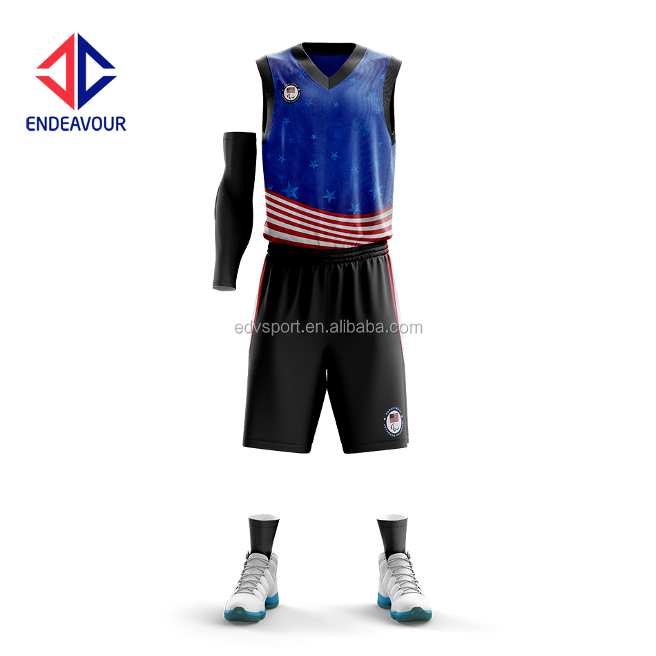 Top design 100% polyester boy basketball wear