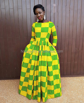 C11285 Beautiful African design long sleeve african maxi dress ankara printed  dress for women on sale 940921db5