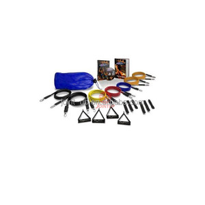 Resistance 7 Bands Set Includes Handles Door Anchor Ankle Wrist Strap Exercise Guide And Carrying Bag