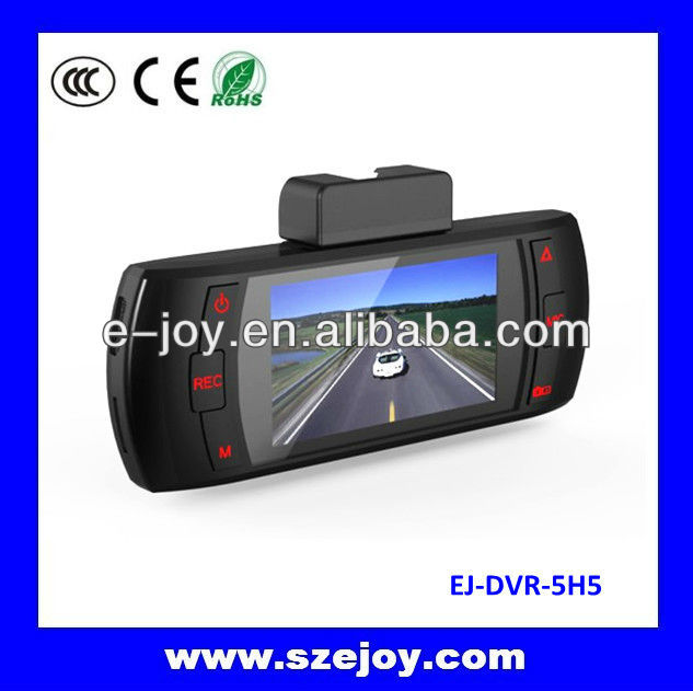2013 New designed 5H5 real 1080p car dash camera, fashional ultra-thin appearance, 120 Degree Wide Angle Lens Built-in stereo