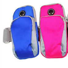 Factory wholesale Headset waterproof mobile phone arm bag with four colors