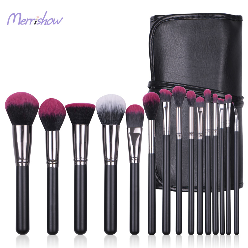 Nieuwste Private Label Goed Gebruik 15 stks Beste Nylon Haar Rode Kleur High-End Professionele Make-Up Kwasten Make-Up Borstel sets