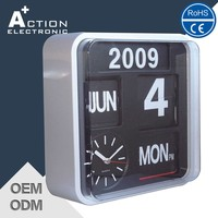 Auto Flip calendar Wall Clock small order accept