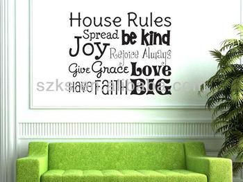 House Rules Fun Rules Vinyl Wall Decal Art Vinyl Wall Quote Buy - House rules wall decals