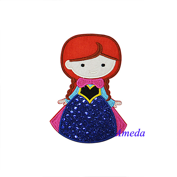 Bling Anna Princess Embroidered Patch