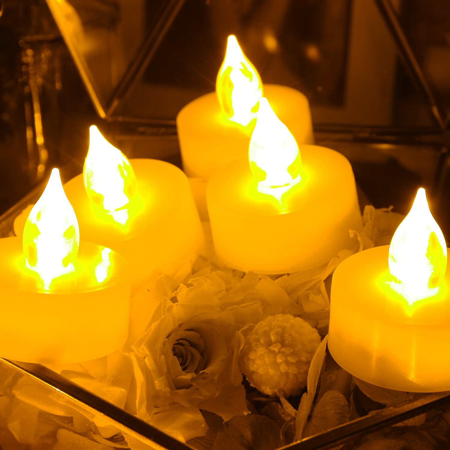Buy 6 Pcs Premium Flameless Tealights With Timer Led Tealights